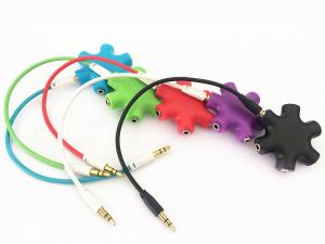 China 3.5mm 1 male to 2 3 4 5 female Earbuds Headphone Splitter 3.5mm earphone adapter on sale