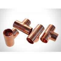 Residential Refrigeration Copper Tubing Pipe Fittings Copper Equal Tee  Easy To Braze
