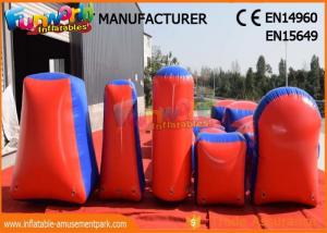 China Commercial Inflatable Paintball Bunkers / Adult Inflatable Nerf Arena on sale