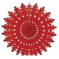 China Tissue Hanging Paper Snowflake Fan Wedding Party Decoration on sale