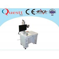 High Speed Fiber Laser Marking Machine F-Theta Lens Benchtop With Rotate Device