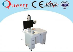 China High Speed Fiber Laser Marking Machine F-Theta Lens Benchtop With Rotate Device on sale