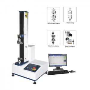 China PC Servo Motor Universal Tensile Testing Machine 220V 5KN 500 KG 1PH on sale