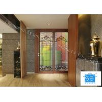 China 08*36 Sliding Glass Doors Theft Proof Brass / Nickel / Patina Available on sale