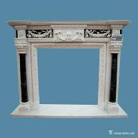 China marble Multicolor Marble Fireplace Surround , Decorative Stone Marble Around Fireplace