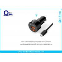 China Black Color Quick Charge 3.0 Dual Usb Car Charger For Phone Xiaomi Huawei on sale