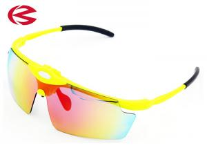 China Anti Ultraviolet Polarized Sport Sunglasses With Changeable Lenses , Multi Lense Cycling Glasses on sale