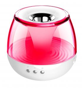 China Best price fashionable round shape FM radio with speaker|night light on sale