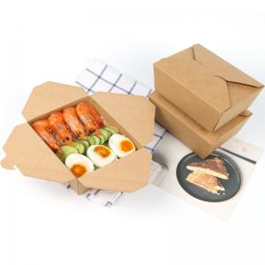 China Disposable Custom Food Boxes Tornable Edge Design Built In Lamination Leak Proof on sale