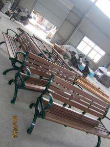 China Wooden Garden Seats Benches , Wooden Outside Benches Waterproof on sale