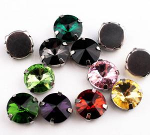China 14mm Acrylic Sew-on Rhinestones; Sew-on Stones for Bridal Dress; Sew-On Jewels for Garments on sale