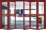Luxury Villas Wood Aluminium French Doors , 120mm Depth External Aluminium Doors
