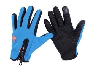 China Warm Mittens Winter Motorcycle Gloves , Touch Screen Gloves Lycra Fabric on sale