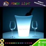 Cubeta de gelo redonda do vinho do diodo emissor de luz da mobília plástica colorida sem fio da barra do bar