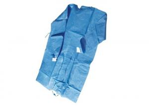 China Durable Disposable Isolation Clothing ,  Fluid Resistant Surgical Isolation Gowns on sale