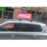 3G WIFI Car LED Sign Display IP65 , High Refresh LED moving sign P5 12V