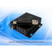 4Port compact USB3.0 over dual or single fiber extender to 250M for USB printer  USB camera and USB Mouse and keyboard