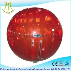 China Hansel Thick PVC Inflatable Water Rolling Ball For Water Games on sale