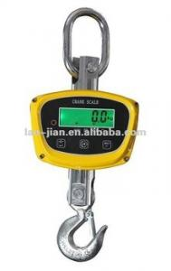 China Yellow Stainless Steel Digital Food Scale , Digital Crane Scales With Lead Acid Battery on sale