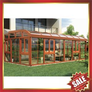 China prefab solar Sunroom,garden tempered glass metal aluminium alloy room,aluminium sun house for villa-super durable! on sale