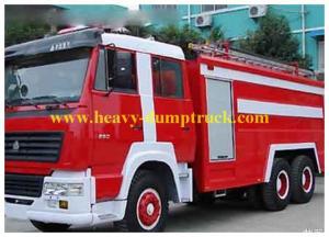 China Howo water foam fire truck 6X4 20m , Platform fire truck with warranty on sale