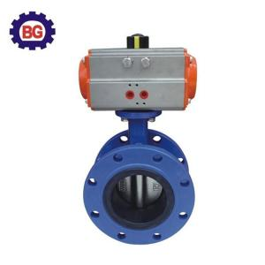 China Factory Direct Sale Double Flanged Butterfly Valve with Pneumatic Actuator on sale