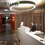 entourez le lustre de la forme LED pour des couloirs d'hôtel en bas de lustre mené par projet d'anneau de multi-couches de luxe d'éclairage