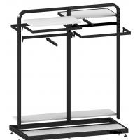 Metal / wood  Customized Color display rack stand Garment showrooms  600*500*1000mm
