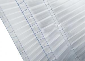 China Triple Wall Clear Polycarbonate Sheet  Flat Roof Panels 14mm Thickness High Light Transmission on sale