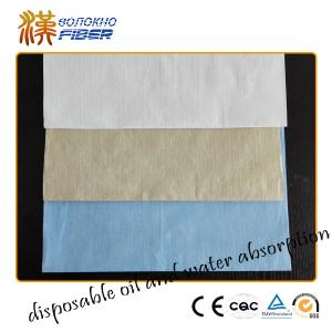 China Bamboo Wood Pulp Non Woven Fabrics Super Absrbent 40gsm - 90gsm Weight on sale
