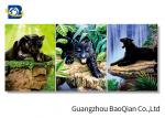 3d Wall Decor Picture With Tiger / Wolf , 3d Customized Flipped Photo