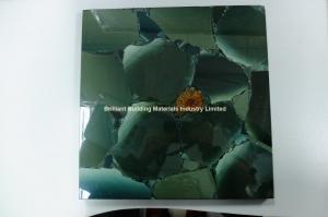 China Semiprecious Stone Lotus Green Tiles on sale