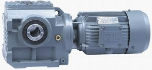 China Hollow Shaft Helical Worm Gear Motor Gearbox With Cast Iron Housing , High Efficiency on sale