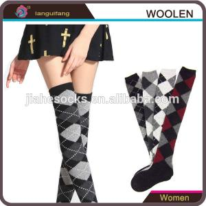 China Design Custom Knee High Wool Socks For Girl on sale