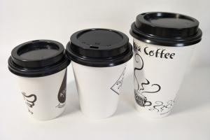 China CMYK Overprinted Matt Finish Hot coffee disposable cups with Matt Lid on sale