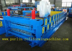 China Roof Panel Glazed Tile Roll Forming Machine With 18 Forming Stations 0.3mm - 0.7mm on sale