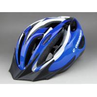 China EPS Visor Adult Bicycle Helmets Blue Washable With Adjustable strap on sale
