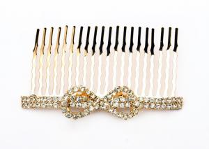 China Crystal bridal 925 sterling silver plating jewelry decorative hair combs for women  on sale