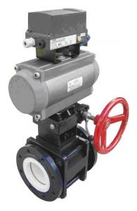 China SPCO Pneumatic Ceramic Ball Valves on sale