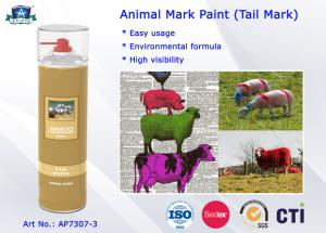 China Fast Drying Waterproof Spray Animal Mark Paint for Pig / Sheep / Horse Tail Purple Red Green on sale
