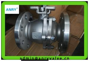 China PTFE Seat  Floating Ball Valve Flanged RF WCB Body Fire Safe Ball Valve on sale