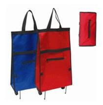 China Red and Blue Best Quality 600D Shopping Trolley Bag Convenient BHT-099 on sale