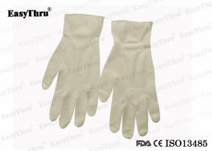 China Examination Disposable Medical Latex Gloves Non - Sterilization S M  L XL on sale