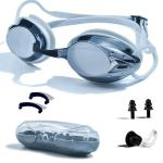 Anti Fog Racing Swimming Goggles UV Protection No Leaking Nose Clip For Adult