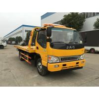 Small Road JAC 6 Wheel Flatbed Recovery Tow Truck 4 Ton For Towing Broken Cars