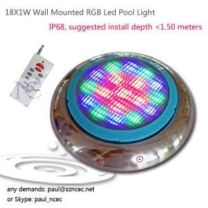 China 18X1W Wall Mounted RGB Led Pool Light on sale