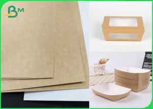 China Antifreezing 250 GSM White Top Coated Kraft Back Paper Board Food Grade on sale