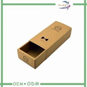 China Brown Kraft Paper Gift Boxes For Men ' S Bow Tie , Black Stamping Logo on sale