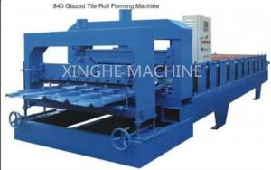 China Colored Steel Glazed Tile Roll Forming Machine , Automatic Roll Forming Machines on sale