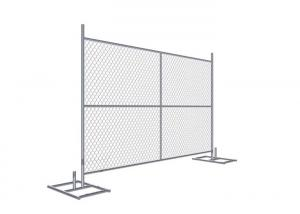 China Cross brace 6'x8' Construction Fence Panels 1.625 /41.2mm Tube Wall Thick 16 gauge Mesh 2.25 on sale